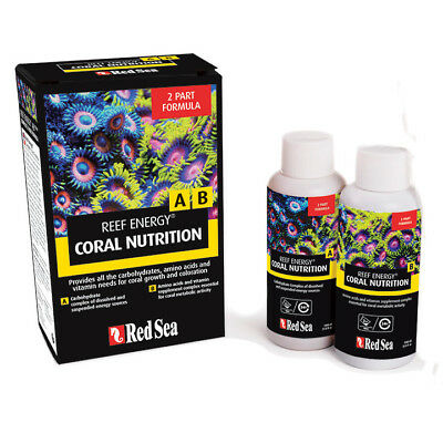 Red Sea Reef Energy A / B 2 Part Formula Marine Aquarium Coral Nutrition 2x100ml