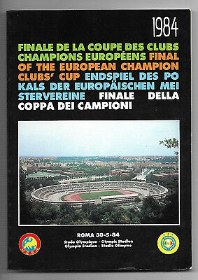 1984 European Cup Final - LIVERPOOL v. AS ROMA (FIGC/UEFA issue)