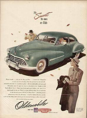 1948 Oldsmobile 2-door Sedan with Hydra-Matic Drive ad