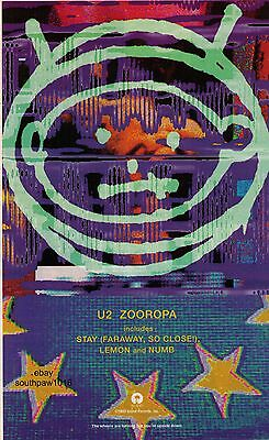 "1993 U2 ""Zooropa"" Record Album Trade Print Advertisement"