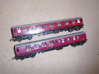 Pair of LMS Coaches for Hornby OO Gauge Train Sets