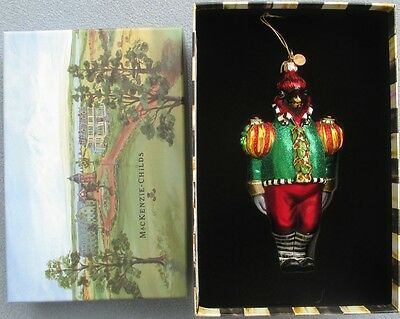 MacKenzie Childs The Cardinal Christmas Ornament New in Box
