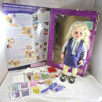 Amazing Ally Doll Kitty-Tea Party Set Moves Speaks Interactive Playmates 1999