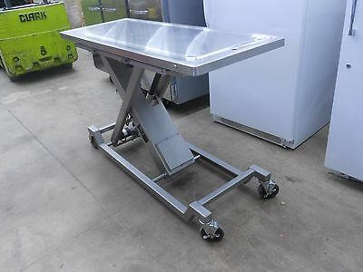 """22½"""" X 58½"""" Stainless Steel Adjustable Height Veterinary Surgery/operating Table"""