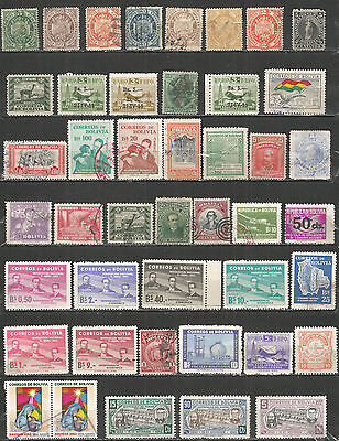Bolivia nice collection old  mint/used stamps