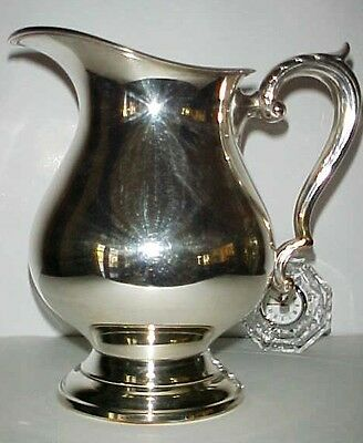 Gorgeous Hollywood Regency Large Silver Pitcher #2900 Wallace Excellent!