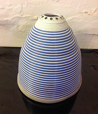 Mid Century Blue and White Rotaflex Light Lamp Shade