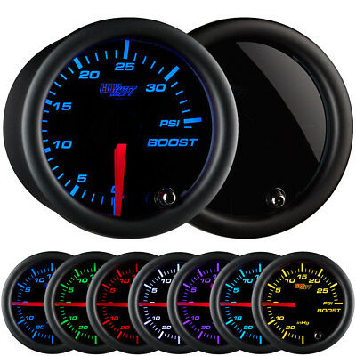"GlowShift 2 1/16"" Turbo Boost 35 PSI Gauge Kit w. 7 Color LED Display"