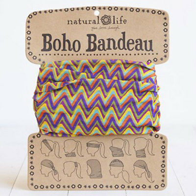 Natural Life Boho Bandeau Colorful Zig Zag Chic Stretch Multiple Wearing  Style b7ee1a53cd5