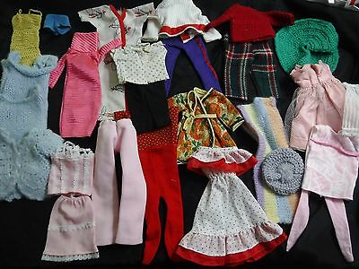 Lot/ 26 Vintage Early 1960's Handmade Barbie Midge Doll Clothes  TAGGED SKIRT