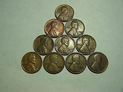 10-Lincoln Wheats 1912 1926-D 1928-D 1931 1939 1949 1952-D 1953 1955-S 1957