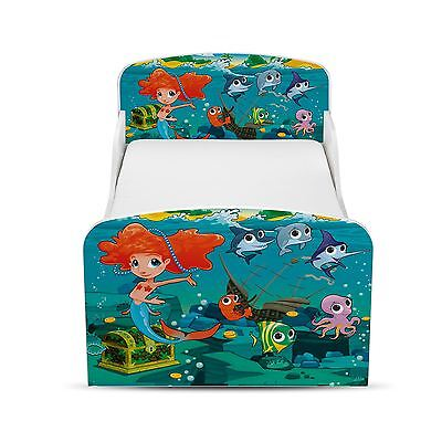 Mermaid Toddler Bed + Fully Sprung Mattress Girls Childrens Junior Bedroom New