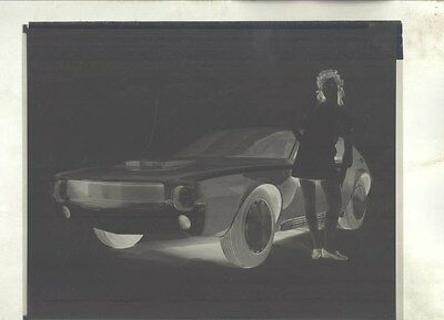 1968 AMC AMX GT Concept ORIGINAL Factory Photograph Negative ww9779