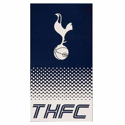 Tottenham Fc Fade Towel Football Club Crest Thfc Beach Bath 100% Cotton New