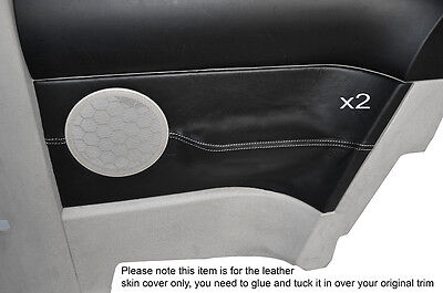 White Stitching 2X Rear Door Card Trim Skin Covers Fits Vw Beetle 1998-2011