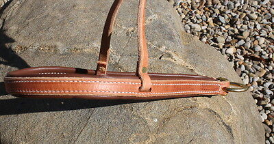 Quality New Leather Roper Noseband. Quality Horse Tack