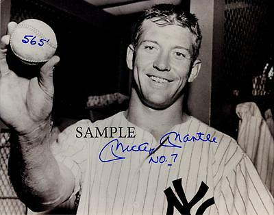 Mickey Mantle #1 Reprint Autographed Signed Photo Picture 8X10 Ny Yankees Hof Rp