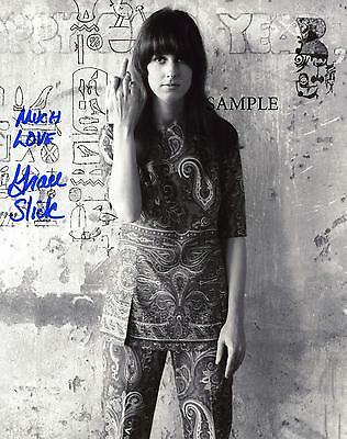 Grace Slick Autographed Reprint Photo Picture Signed 8X10 Christmas Gift Rp