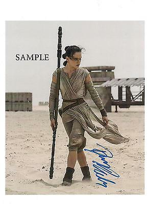 Daisy Ridley #2 Reprint Autographed Picture Photo Signed 8X10 Star Wars Awakens