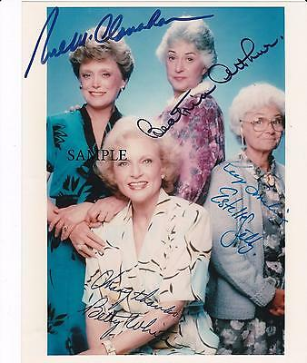 Golden Girls Cast Reprint Autographed Picture Signed Photo 8X10 Betty White Rp