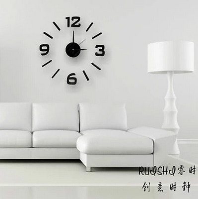 Creative diy personality clock hang watch silent adornment wall stick ZB018