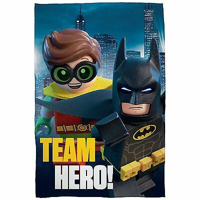 Official Lego Batman Movie Hero Fleece Blanket Childrens Blanket Free P+P New
