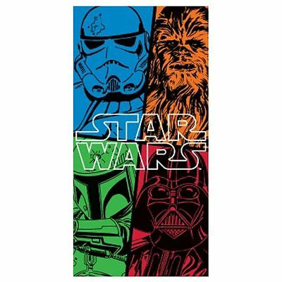 Star Wars Large Beach Bath Towel New Official Force Design