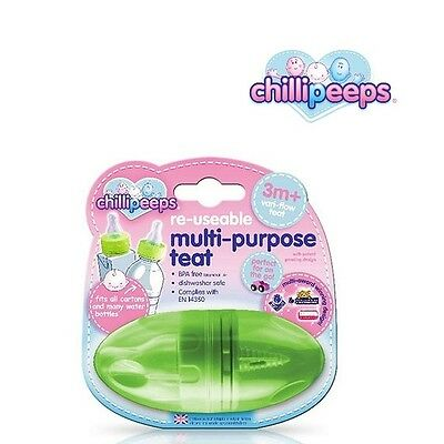 Chillipeeps Multi-Purpose Teat (Green) Bottle Feeding Baby Accessory