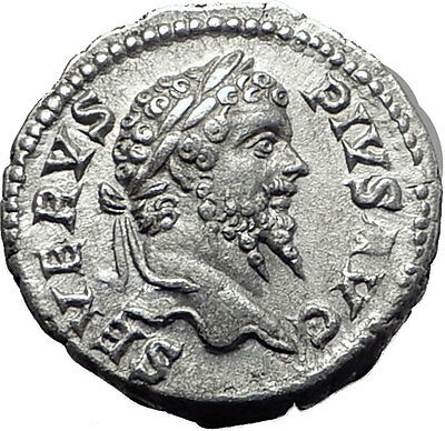 SEPTIMIUS SEVERUS 193AD Silver Authentic  Ancient Roman Coin Felicitas i61520