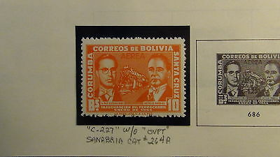 Bolivia stamp collection on Minkus pages to '90