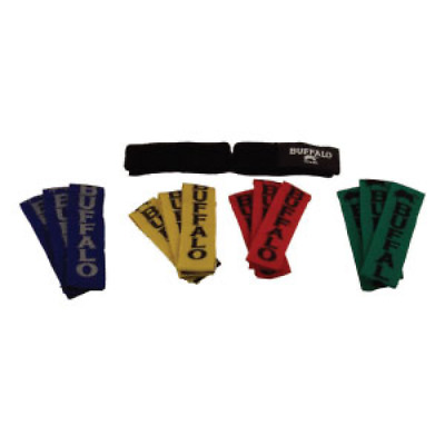 Buffalo Sports Touch Rugby Tag Belts - 10 Pack - Multiple Colours