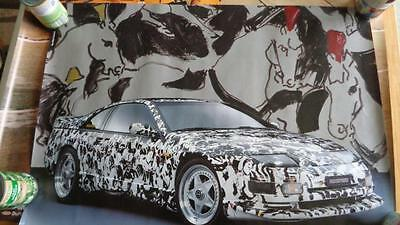 Rinspeed Nissan 300 ZX Speed-Art 1992 Poster 420 Horses onto the Bodywork 28x22