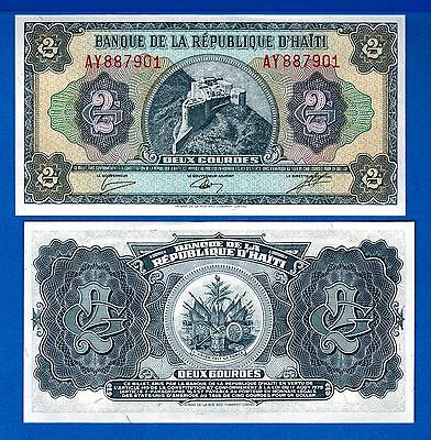 Haiti P-245A Two Gourdes Year L1979 Uncirculated Banknote