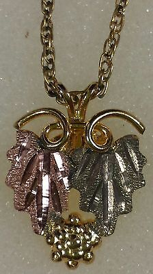 Jewelry Black Hills 10k Gold Pendant And Chain 14k Gold Filled Not Scrap #1839