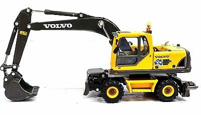 1:87 Volvo Construction Mobile Excavator - New Diecast In Display Case