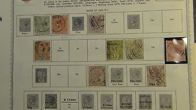 Ceylon Sri Lanka stamp collection on Minkus pages to '89