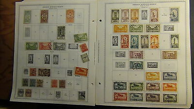 Fr. Morocco stamp collection on Minkus pages to '89