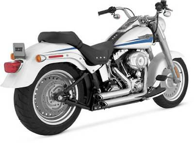 Vance And Hines Shortshots Staggered Exhaust System, Chrome, #17221, H-D Softail