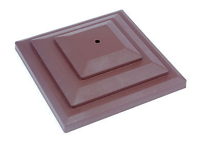 "Linic 5 x Brown 3"" 75mm Plastic Fence Post Cap Top Finial UK Made GT0043"