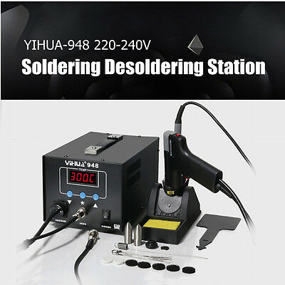 220V Electric Digital Soldering Iron Handle Desoldering Station Welder Tool