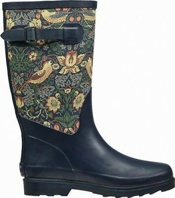 Briers Fabric Feel Strawberry Theif Pattern Rubber Wellington Boot | Size 8