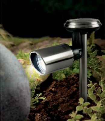 Gardman Stainless Steel Decorative Outdoor Garden Solar Powered Spotlight