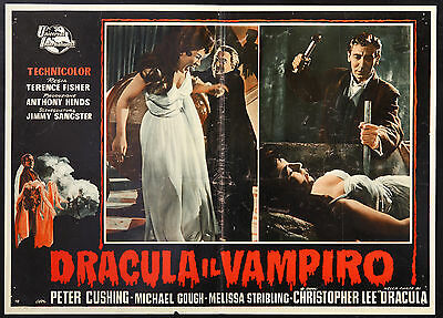 CINEMA-fotobusta DRACULA IL VAMPIRO peter cushing, ch. lee, TERENCE FISHER