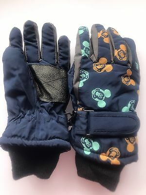 Children kids Boys Mickey Mouse Navy Ski Winter Warm Gloves Mitten 4-7 Years
