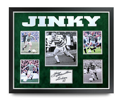 Jimmy Johnstone Signed Photo Large Framed 24x20 Celtic 1967 Autograph Display