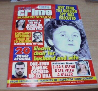 True Crime SUMMER Special magazine 2017 Ethel the Russian Spy, One-Eyed Maniac &