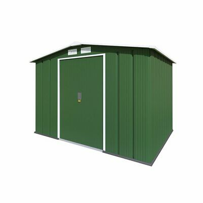 Metal Garden Shed - Partner Apex Galvanised Steel Outdoor Heavy-Duty Storage