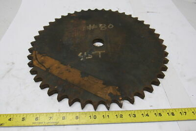 "#80 Single Row Sprocket 1-1/4"" Bore to Size 45 Tooth"