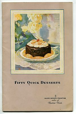 "1929 HOSTESS CAKE Cookbook From ""BAKERIES SERVICE CORP"""