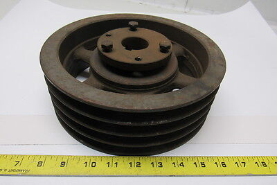 """Browning 4TB94 4 Groove 9-3/4"""" Diam. SK Bushing Bore V Belt Pulley Sheave"""